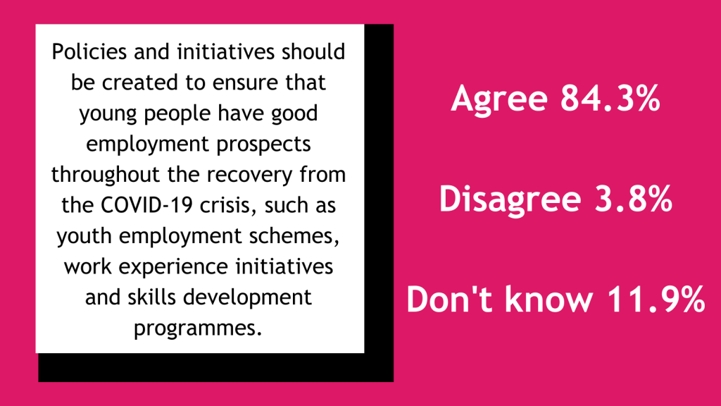 Pink graphic with the side results of the policy mentioned above.